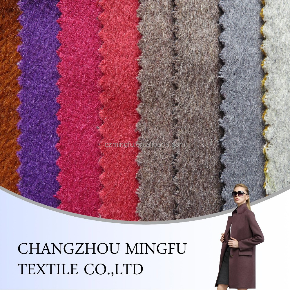 double faced wool fabric, 50% wool 50% polyester, high quality wool fabric for women cloting