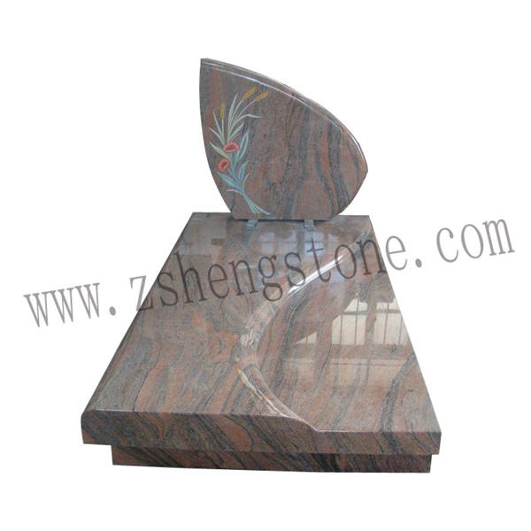 multi color laser etching gravestone shapes