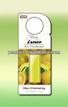 Membrane car air freshener new car scents air freshener with lemon scents