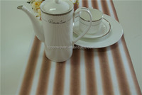 stripe printed non woven fabric roll for table runner wedding deco and gift wrapper