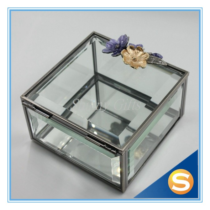 Glass Materials Jewelry Box Gift Box Square Collective Box