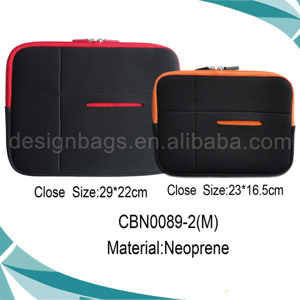 High quality soft material shockproof neoprene laptop sleeve with zipper