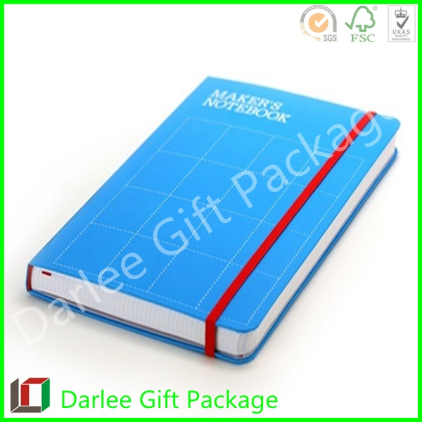 daily diary 2015 customized leather paper journal A5 embossed logo pu leather agenda