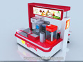 Durable use ice cream kiosk 3D design and customize