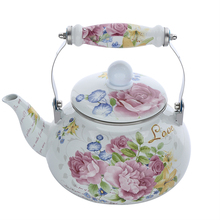 2017 Hot Sale 2.5L full flower Arabic Enamel Tea Kettle