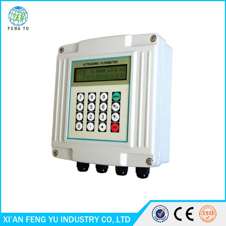 China Made Portable Ultrasonic Wall Mounted Flow Meter Price for Water/Gas/Stream