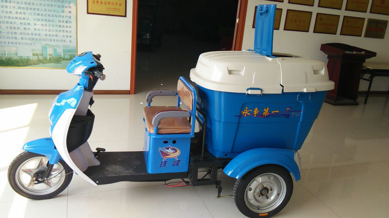 Adult use electric garbage tricycle use for cleaning steet