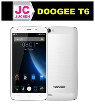 China factory price pure white 5.5 inch Doogee T6 edge frame smart mobile phone