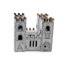 Wholesale diy painting coloring indoor educational kids safe paper castle toy