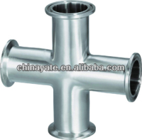 Sanitary Welded Crosses- Stainless Steel Sanitary and Food Grade Pipe Fittings