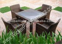 Rattan Wicker Tea Table and Chairs Furniture