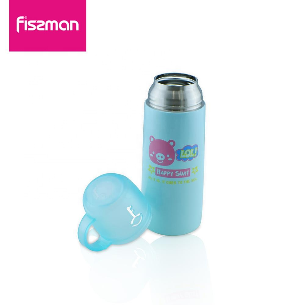 Fissman 350 ml Child Cartoon Cute  Thermos flask Thermal Bottle With Handle Double Wall Thermos Mugs Vacuum Flask