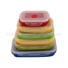 Super convenient stackable silicone food container plastic food storage container with lids