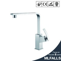 New Arrival 360 Rotation Kitchen Sinks Mixer Tap Faucet Single Handle Single Hole Polished Chrome Brass Kitchen Faucet