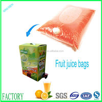 Dispossable juice plastic drink bag and beverage packaging