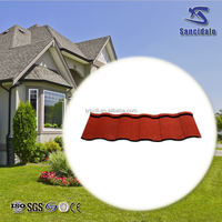 cheap price factory stone coated metal roof tile