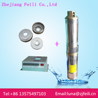 Submersible fountain pump with led light solar pump for deep well pump