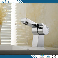 China Calibration Switch Chrome Plated Single Lever Faucet Basin Mixer
