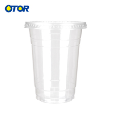 1000ml Disposable Clear Plastic Coffee Cup with Lids