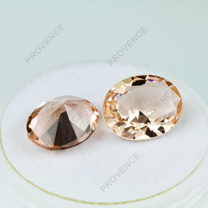 777# Champagne color Synthetic Morganite gemstones with wholesale price
