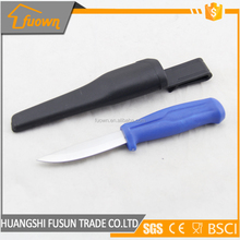 carry-on stainless steel fruit knife with plastic blade case