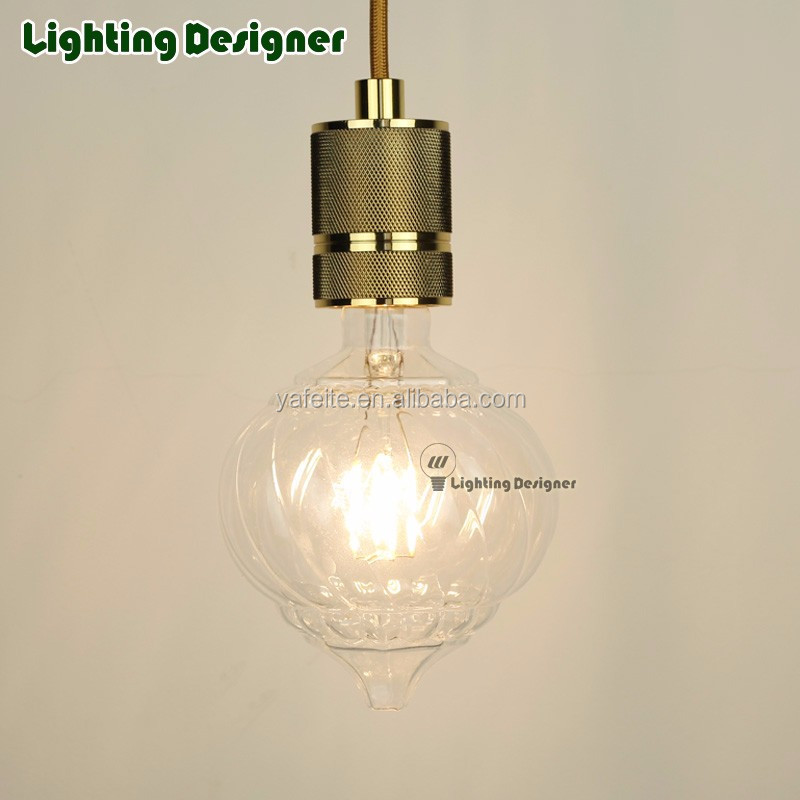 LED lantern lamp bulb pumpkin glass dimmable 220V-240V 4W energy saving table lamp bulb pendant lamp