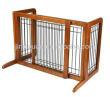Expanding and Portable Fence for Dogs / Pet Gates / Wood Dog Pen