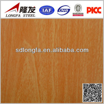 colorful wood pattern coated metal roofing tile