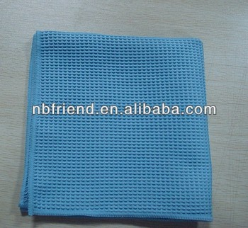 Microfiber Waffle Cloth For Car Cleaning