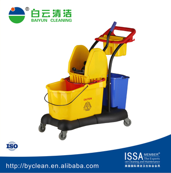 81liter utility cleaning mop bucket trolley