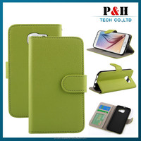 Wholesale flip wallet PU leather case new arrival for samsung galaxy s6 cover