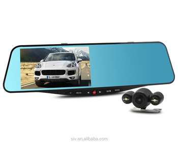 5'' Dual Lens HD 1080P Car DVR Camcorder 170 Degree Viewing Angle, Support Loop Recording