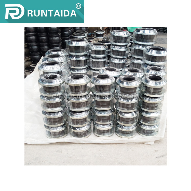 Worldwide sale single sphere ductile iron flanged end rubber expansion joint