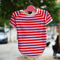 Wholesale cheap striped summer t-shirt clothes for small dogs
