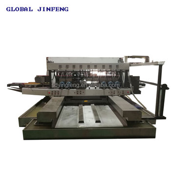 JFD-20 CNC glass double edger with 20 spindles fine polishing Min glass