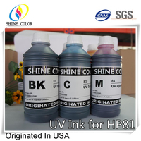 1000ml 6 color for HP 81 UV dye ink for HP Designjet 5000 5500 inkjet
