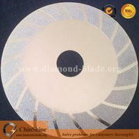 sharp turbo continuous rim electroplated blade for cutting ceramic from China