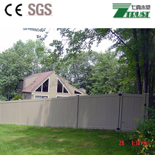 Cheap wood plastic composite wpc picket fence