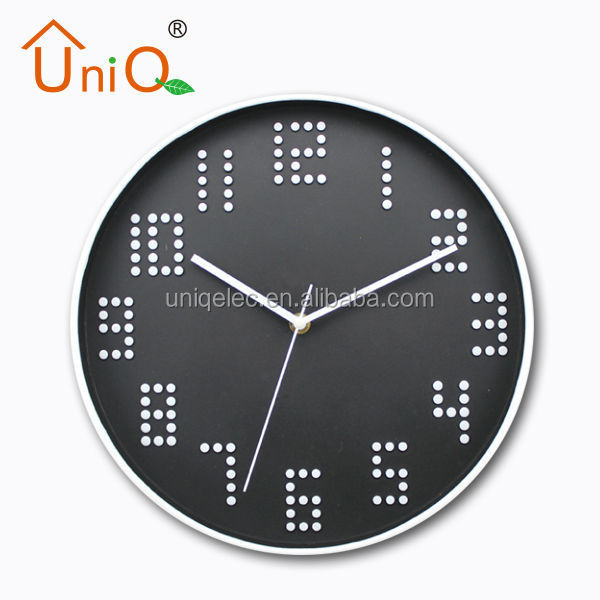 3d mirror wall clock