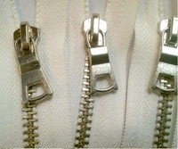 boutique garment accessory Metal Silver Zippers Closed Bottom fancy puller