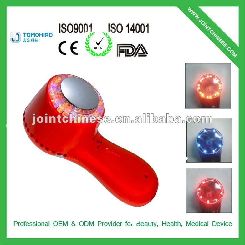 New handheld multifunctional 3 level intensity led light photon IPL ultrasonic beauty parlour equipment