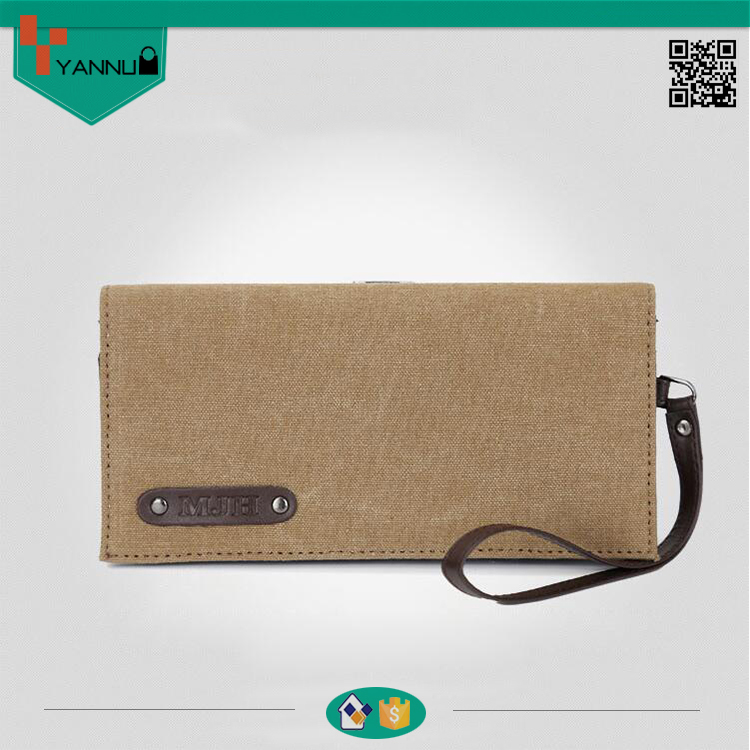 2016 wholesale latest arrival contracted fashion canvas vintage wallet handbags purses design