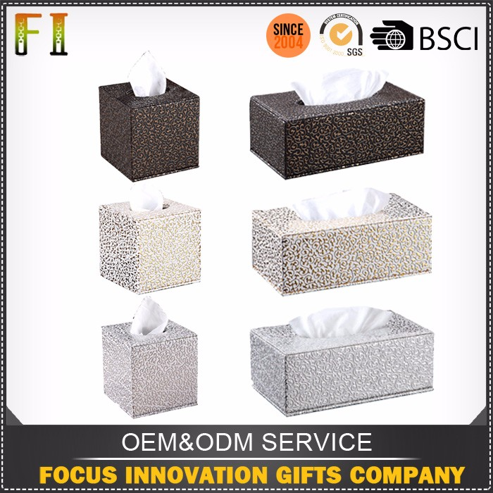 High quality custom leather tissue box