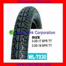 3.00-18 6PR Rubber Wholesale Vintage Motorcycle Tires