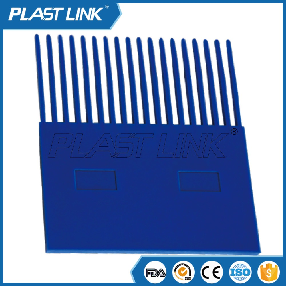 Plastic transfer plate for 900 of conveyor parts