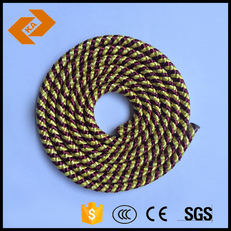 colorful braided nylon mooring rope