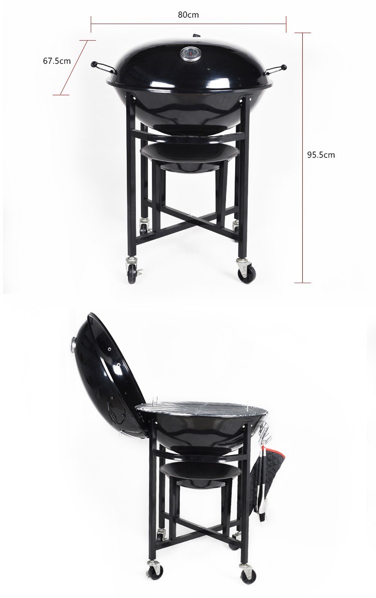 "KEYO EN1860 standard 20"" Trolley barbecue grill china charcoal bbq grill"