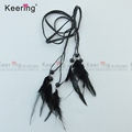 Feather match Black Bead Silk Tassel Fringe for DIY Jewelry Accessories making WTR-023
