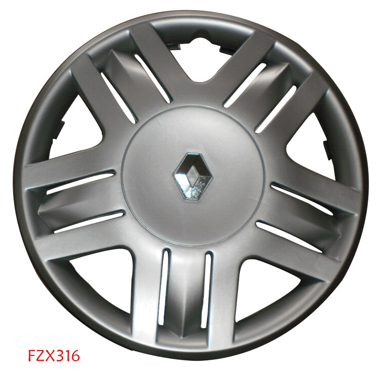 hot sale silver car Wheel Cover with Renault car logo 13 inch Hubcap ABS chrome paiting auto Wheel Trim FZX316A