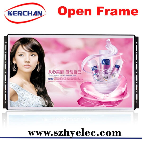 small lcd display/lcd display panel 21.5 inch led round corner advertising